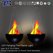Party supplies hanging simulated fire flame light, led plastic flame light