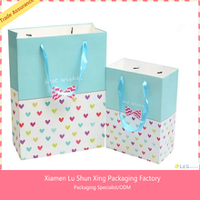 Promotional customized wholesale paper gift bag logo