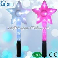 five star shape foam Glow Stick for christmas decoration