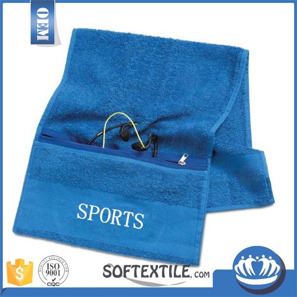 Microfiber Gym Towel With Zip: Wholesale Microfiber Promotional Custom Gym Towel With Zip