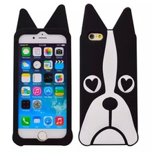 3D Cute Cartoon mobile phone silicon case for Iphone 6G