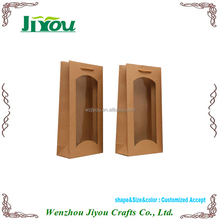 customized brown paper bag with window