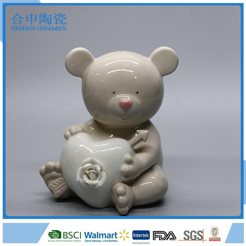 Ручной медведь desgin подарки день святого валентина керамический орнамент.