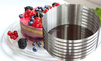Circular mousse ring The adjustable telescopic layered cake baking mold
