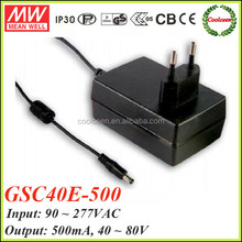 Meanwell constant current led power supply 500ma GSC40E-500
