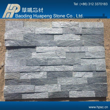 Natural decorative honed split face outdoor black slate decor tiles