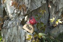 Home Garden Decoration Polyresin Bird Timber Craft