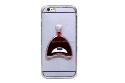 aqua liquid cell phone cover for iphone in shape of Henessy bottle and Jack Dennis bottle and Matail bottle