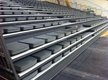 Telescopic bleachers seating system , 2015 new designed indoor soft grandstand