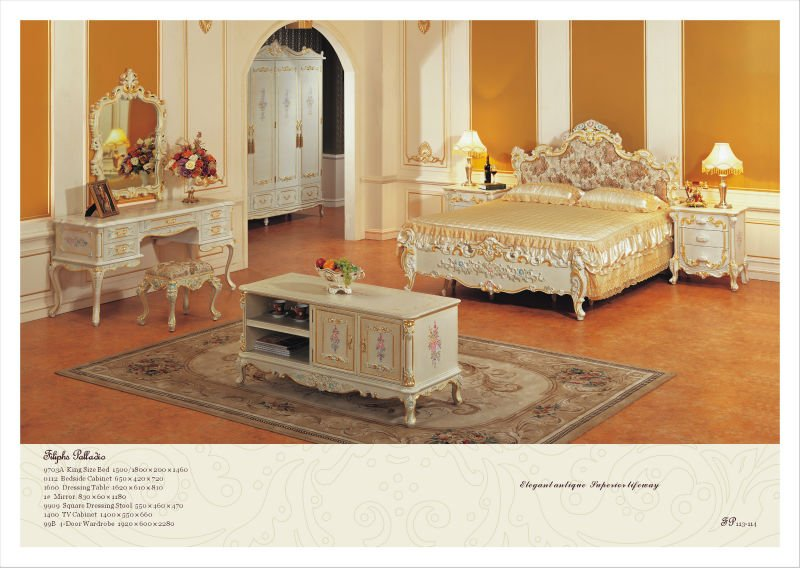 Fp Classic Bedroom Furniture Solid Wood Hand Carved Bedroom Set Buy Class
