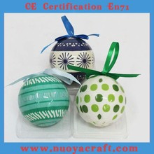 Customize 6.5cm printed craft ball with brand name