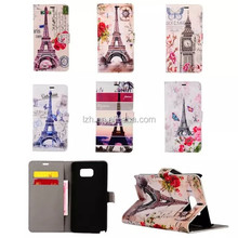 World Famous Tower Pattern Stand Flip cover Case for Samsung Galaxy Note 5