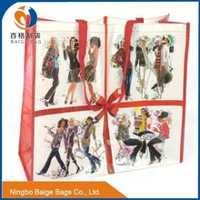 lady fashion recycled pp non woven shopping bag with lamination