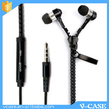 2015 custom designed silicone earphone rubber cover, Zipper design earphone