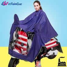 Rainproof women use plastic rain coat motorcycle