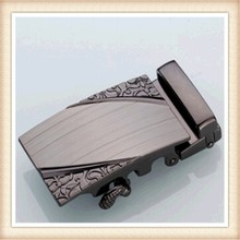 Top quality fashion pearl gunmetal leather covered zinc alloy auto buckle