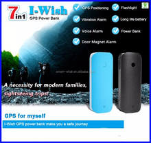 Myself Tracker Quad Band GSM Global Location Door Magnetic Alarm Power Bank Flashlight GPS SMS Smart GPS Tracker
