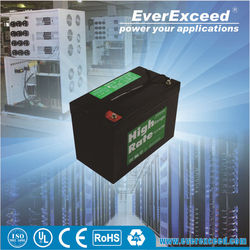 EverExceed hot sell 6v 200ah deep cycle dry battery