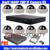 8CH 1080P Onvif Hot Sell Vandalproof Wired CCTV Security IP DOME POE Camera syste,m 2.8-12MM