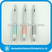 2014 promotional 4 in 1 pen body with green black red 0.5mm pencil rubber round hole ball pen 4 in 1 multifunctional pen