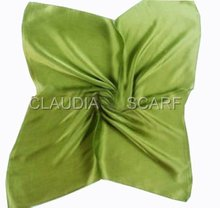 Fashion Solid Color Scarf Silk