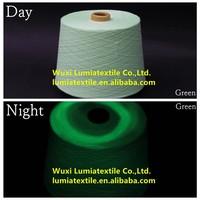 green polyester staple fibre/21s glow in the dark