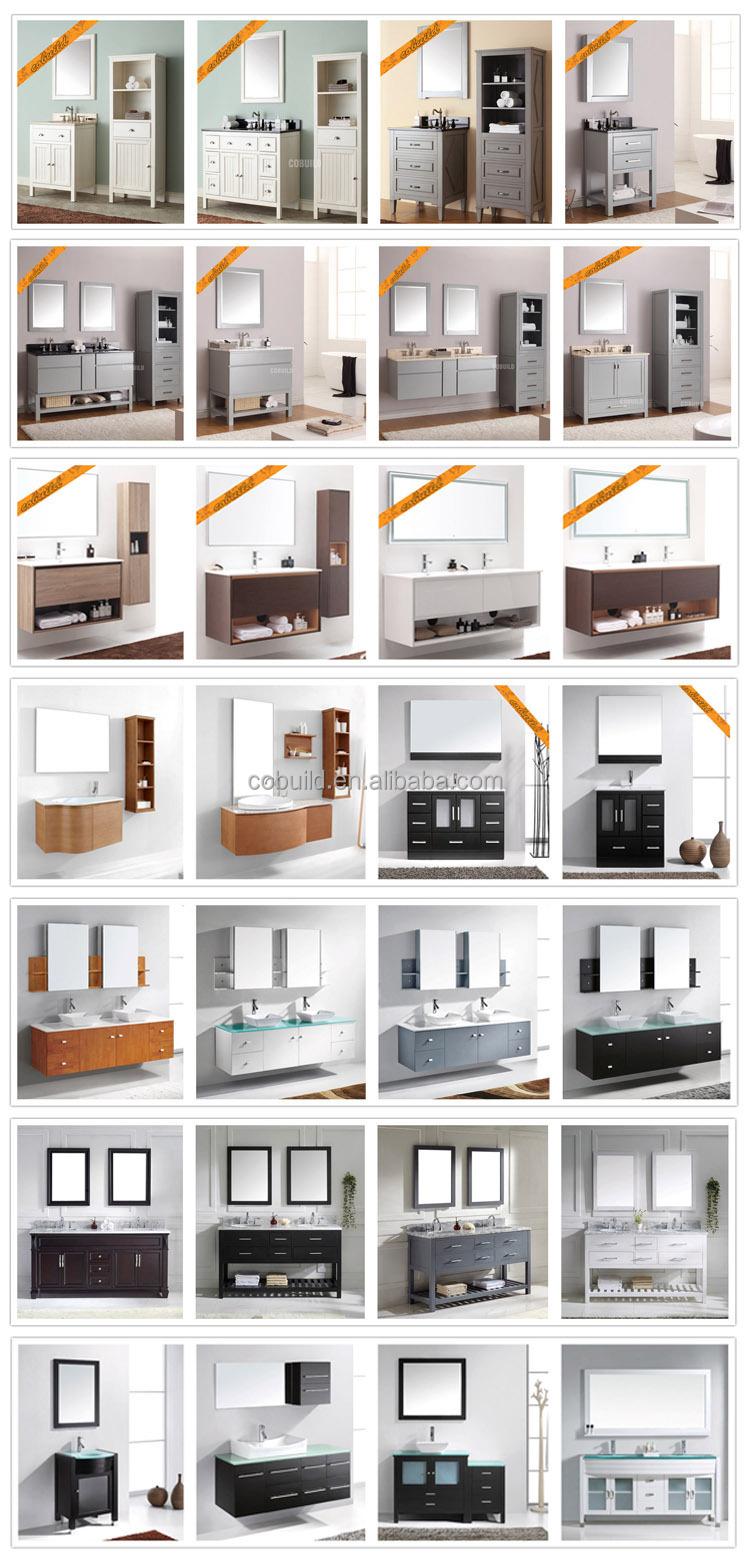 Dubbele wastafel badkamer ijdelheid stenen, moderne massief houten ...