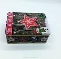 Rectangulaire boîte en fer blanc de cadeau de noël de qualité alimentaire/récipient en étain pour le chocolat