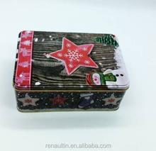 Rectangular Food Grade Christmas Gift Tin Box/Tin Container For Chocolate
