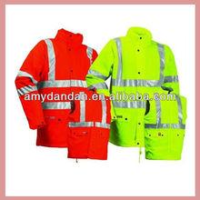 Cotton padded jacket with reflective belt