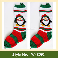 W-2091 cheap custom crochet pattern wholesale bulk christmas stockings