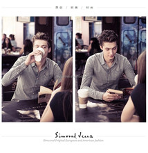 plaid shirt/comfort casual men's shirt/ comfort casual plaid shirt/latest design men shirts of 2015