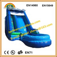 2015 Funny china new cheap design giant inflatable water slide for sale
