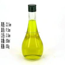500ml bowling shaped glass bottle for oilve oil