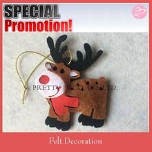 2015 new padding Christmas Deer shaped, filling felt christmas decoration
