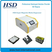 Degaussing hard disk with HSD-Super degausser