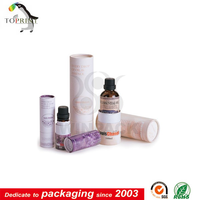 custom essential oil packaging boxes paper tube with logo printting