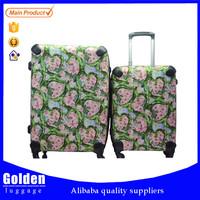 quality Baigou factory unique design suitcase soft PP materical trolley luggage case