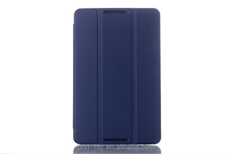China Manufacturer three folder PU leather protective cover case with stand for Lenovo A5500 flip case for Lenovo