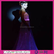 LED luminous fancy led light up formal tropical evening dresses
