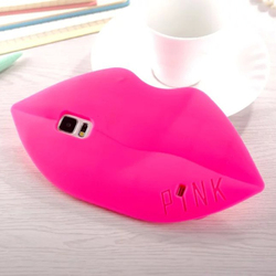 3D Mobile Phone Case Cover For Samsung Galaxy S6 S5 S4 Lips Silicone Pink Case Cover, For Samsung Lip Phone Case
