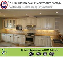Custom made L-shaped modular PVC kitchen cabinets for villa