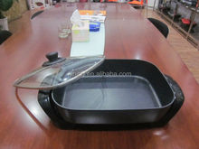 38cm Electric Frying Pan Freestanding Non Stick Surface with Glass Lid