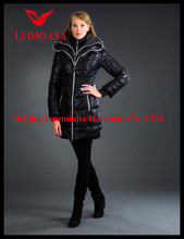 black long women's down coats
