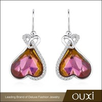 Fashion jewellery designs crystal beads,gold plated jewellery drop earring Y20313