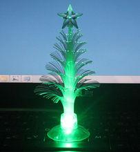USB 7 Colors Fiber Optic Christmas Tree with Top Star