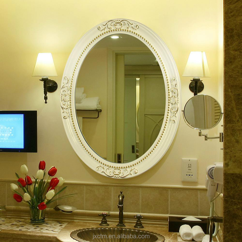 Bathroom cosmetic decorative mirror buy wall mounted for Bathroom decor mirrors