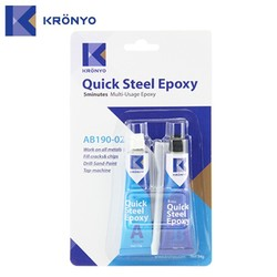 KRONYO Made In Taiwan glass metal ab glue epoxy resin steel glue