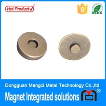 Super strong rare earth magnet clasp for bag