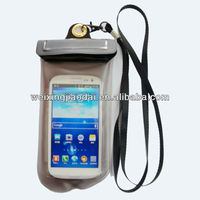 High Qulity PVC Waterproof Samsung Galaxy S3 Pouch with Lanyard